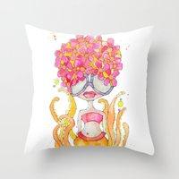 dreamsicle -- she's extra yummy. Throw Pillow