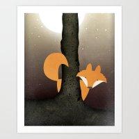 The Forest Fox Art Print