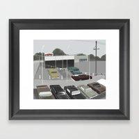 car lot Framed Art Print