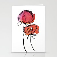 Red Ranunculus Stationery Cards