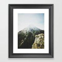 She Saw The Mountain Mis… Framed Art Print
