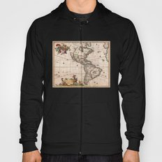 1658 Visscher Map of North America & South America (with 2015 enhancements) Hoody