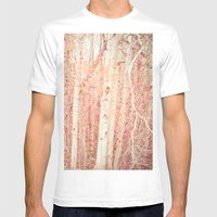 White Birch Trees Mens Fitted Tee White SMALL