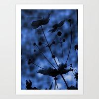 Blue shadow Art Print