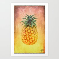 Pineapple - For Iphone Art Print