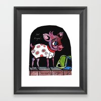 Bambi Has Just Escaped..… Framed Art Print