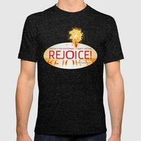 REJOICE! Mens Fitted Tee Tri-Black SMALL