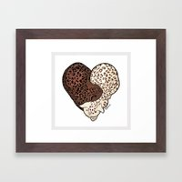 LEOPARD LOVE Framed Art Print