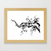 Branch with Flowers Framed Art Print