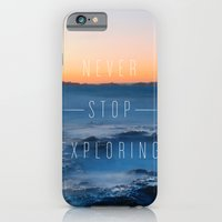 iPhone & iPod Case featuring Never stop exploring by iacolarepierre