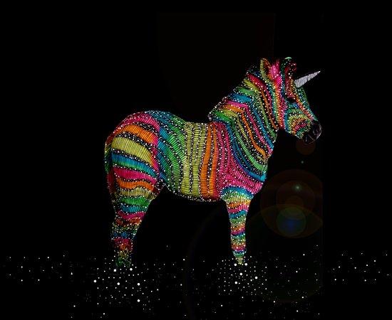 cosmic rainbow zebra Art Print