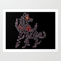 Okami Amaterasu - Cherry… Art Print
