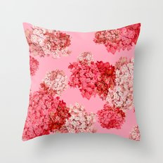 hydrangea (doubled) Throw Pillow