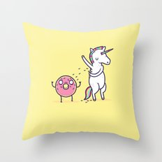 How Donuts Get Sprinkles Throw Pillow