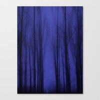 Nightblue Woods Canvas Print