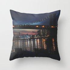 Evening Blue Throw Pillow