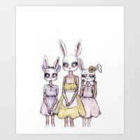 The Three Orphans Art Print