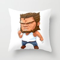 Mini Wolverine Throw Pillow