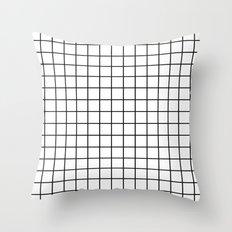 Emmy -- Black and White Grid, black and white, grid, monochrome, minimal grid design cell phone case Throw Pillow