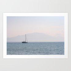 Yacht, Keri Beach Art Print