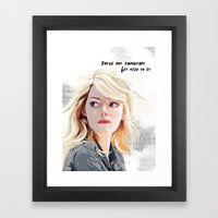 You're Not Important. Framed Art Print