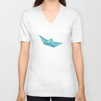 High Seas | Origami | Simplified Unisex V-Neck