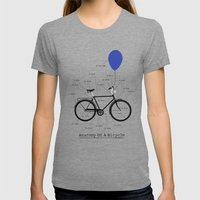 Anatomy Of A Bicycle Womens Fitted Tee Tri-Grey SMALL