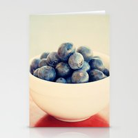 blueberry bush Stationery Cards