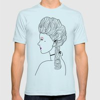 Marie Antoinette Mens Fitted Tee Light Blue SMALL