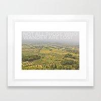 WANDER Framed Art Print