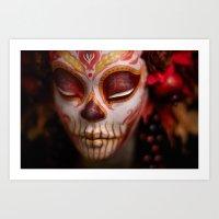 Crimson Harvest Muertita… Art Print