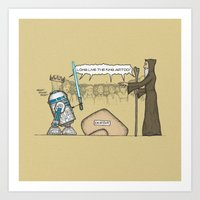 King Artoo Art Print