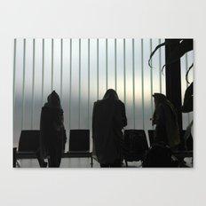 Davening - Airport Canvas Print
