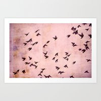 Flying South Art Print