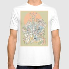 sherbet SMALL White Mens Fitted Tee