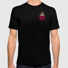 Pocket Dude (01) SMALL Mens Fitted Tee Black
