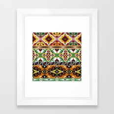 Modern Native American Pattern 7 Framed Art Print