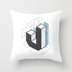 The Exploded Alphabet / J Throw Pillow