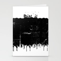 Paint It...Black Stationery Cards