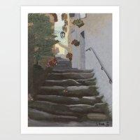 Italian Street And Stair… Art Print
