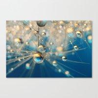 Dandy Drops in Royal Blue Canvas Print