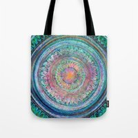Pink And Turquoise Manda… Tote Bag