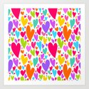 Cute colorful heart Art Print