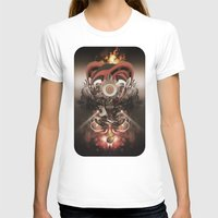 Pyropriest Womens Fitted Tee White SMALL