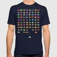 Fashionable Invasion  Mens Fitted Tee Navy SMALL
