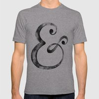 Ampersand Art Print Mens Fitted Tee Athletic Grey SMALL