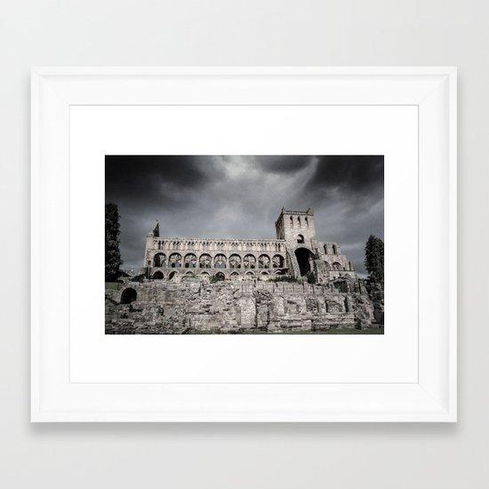 Faded Memories: Jedburgh Abbey Framed Art Print