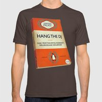 Hang The DJ #3 Poster Mens Fitted Tee Brown SMALL