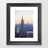 The Empire State Buildin… Framed Art Print