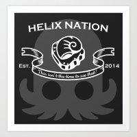 Helix Fossil Nation Art Print